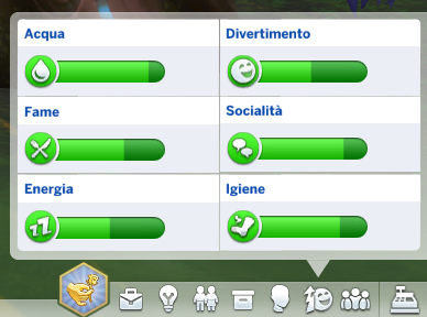 the sims 4 vegesim bisogni