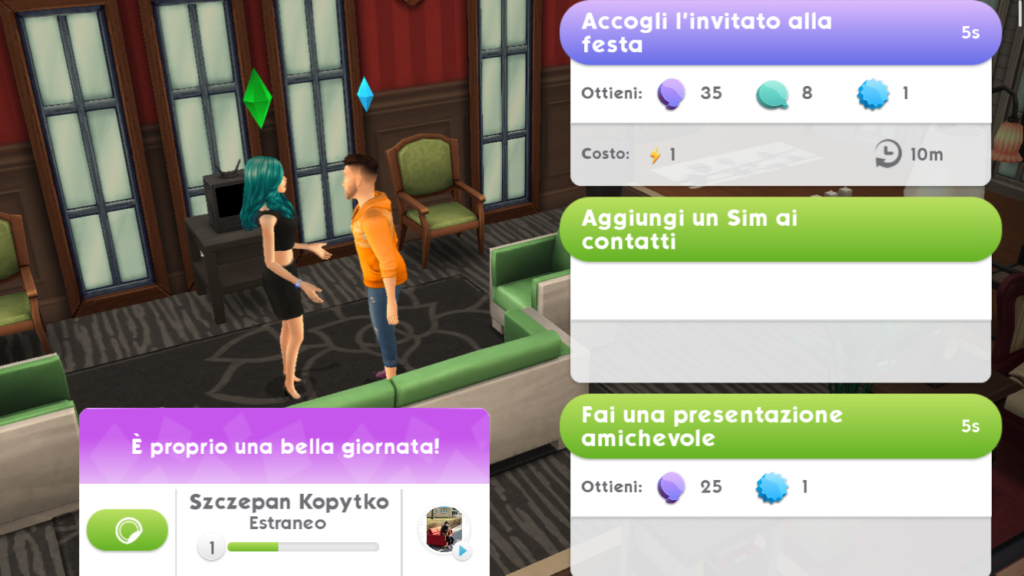 sims mobile invitato