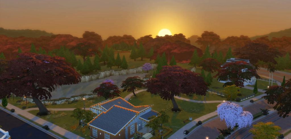 sims 4 seasons sunrise