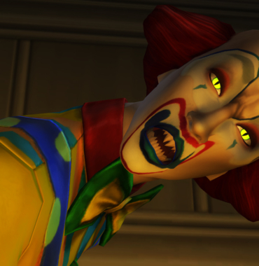 Clown killer stermina una famiglia di The Sims 4